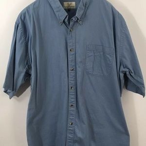 Eagle Crest 2XT Blue Button Front Short Sleeve